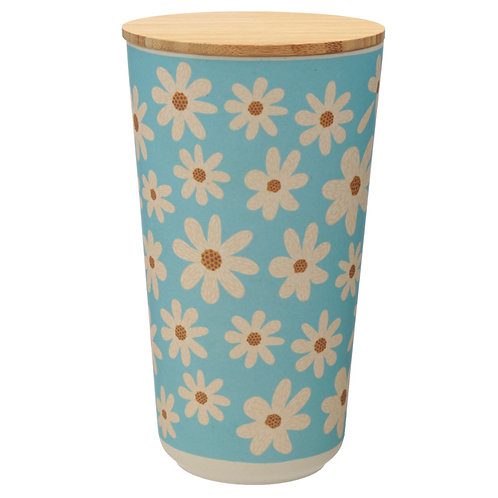 Large Bamboo Composite Storage Jar Oopsie Daisy Novelty Gift