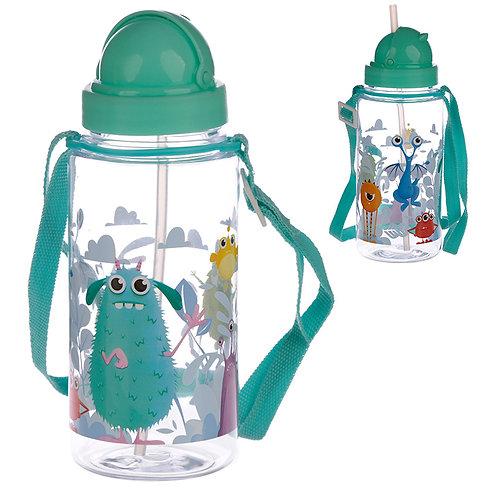 Fun Monsters Design 450ml Childrens Water Bottle Novelty Gift