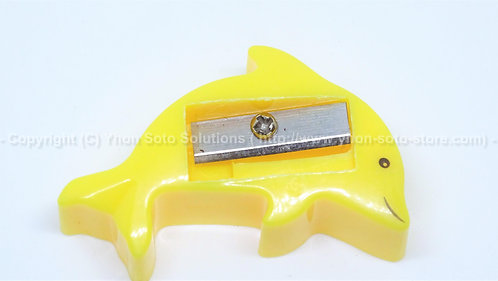 Yellow Dolphin Sharpener