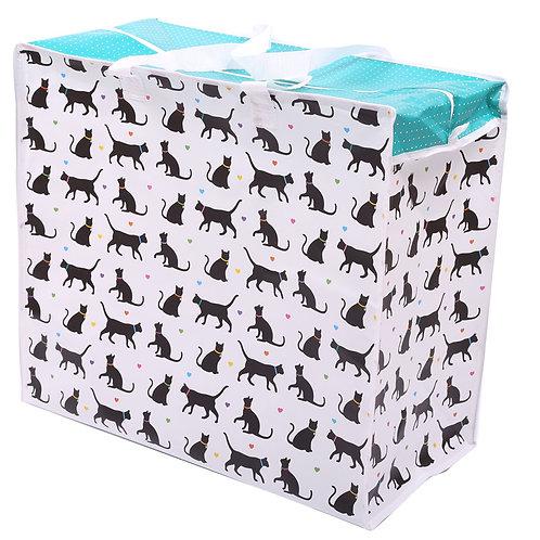 Fun Practical Laundry & Storage Bag - I Love My Cat Novelty Gift