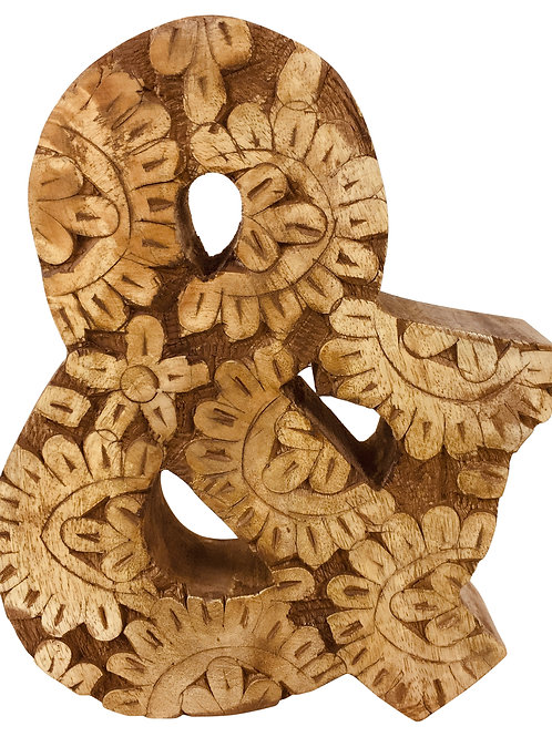 Hand Carved Wooden Flower Letter & Shipping furniture UK