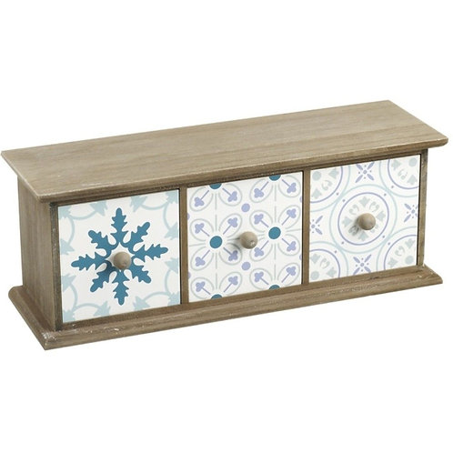 Wooden Blue Tone Draw Shipping furniture UK