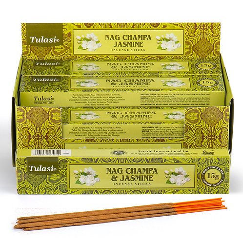 Nag Champa Tulasi Incense Sticks - Jasmine Novelty Gift
