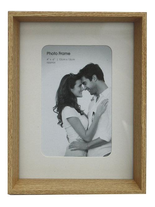 Natural Wood Box Style 4 X 6 Photo Frame Shipping furniture UK