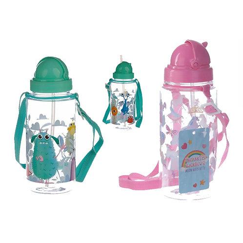 Unicorn & Monster Bottle 450ml  Children's Reusable Water Bottle with Straw