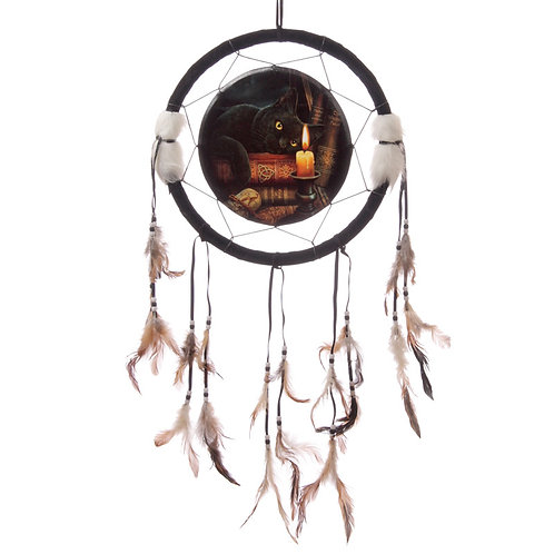 Decorative Magical Witching Hour Cat 34cm Dreamcatcher Novelty Gift
