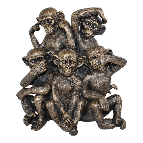 Five Monkeys Ornament  Shipping furniture UK