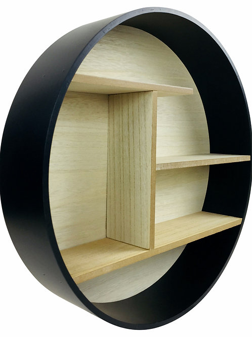 Black Round Shelf Unit 45cm Shipping furniture UK