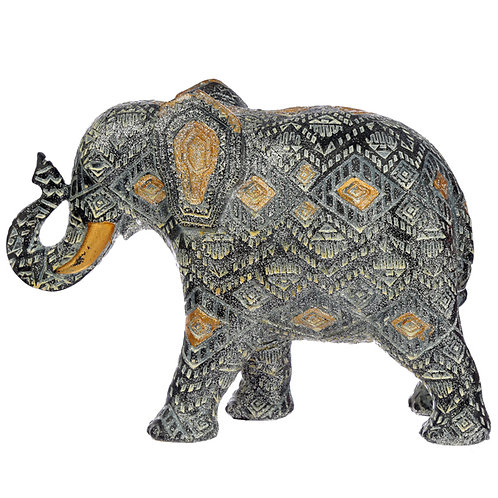 Decorative Thai Geometric Medium Elephant Novelty Gift