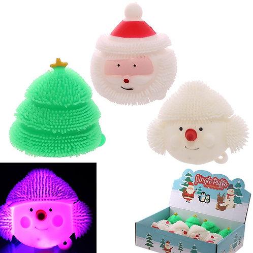 Fun Kids Light Up Squidgy Christmas Puff Pet Novelty Gift