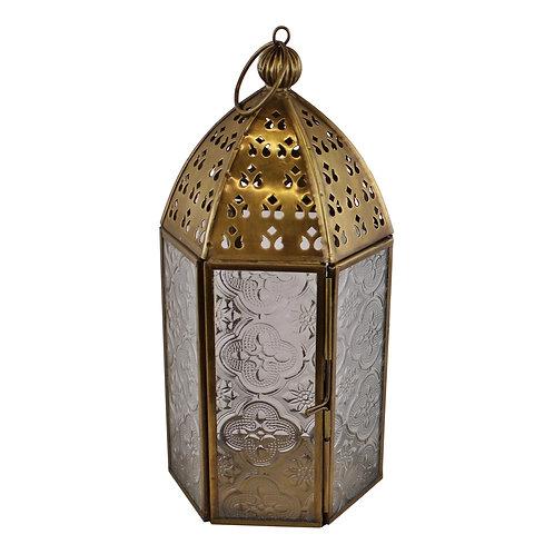 Small Gold Metal Moroccan Style Kasbah Candle Lantern Shipping furniture UK
