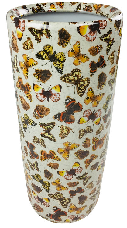 Round Coloured Butterflies Umbrella Stand 46cm Shipping furniture UK