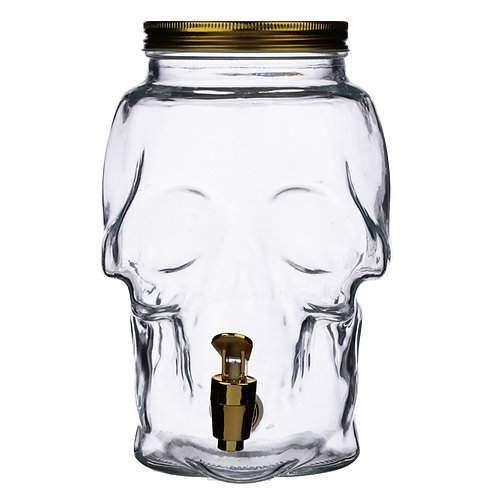 Skull Shaped Water Decanter 2.6L - Skulls & Roses Novelty Gift