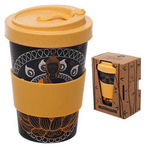 Bamboo Composite Thai Buddha Screw Top Travel Mug Novelty Gift
