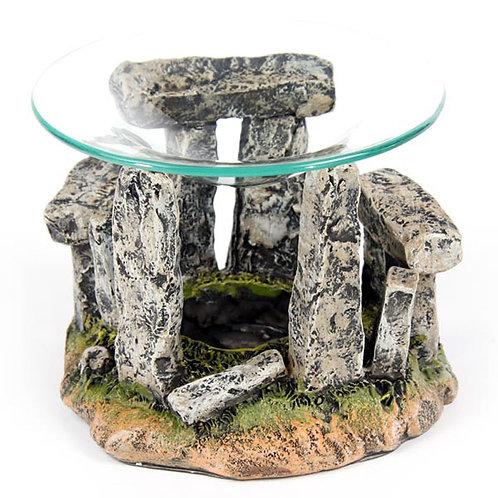 Mystical Stonehenge Design Oil Burner with Glass Dish Novelty Gift