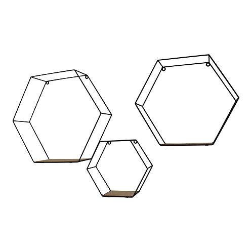 Set Of 3 Hexagonal Wall Shelves Shipping furniture UK