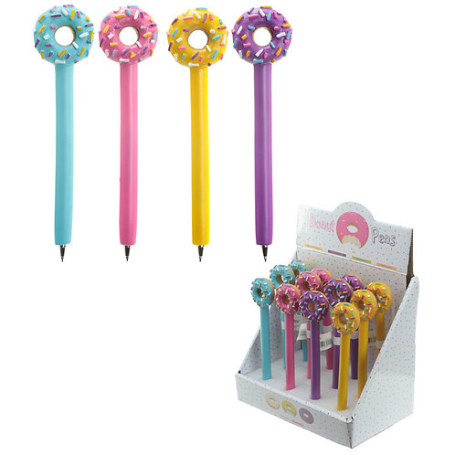 Fun Novelty Iced Donut Pen Novelty Gift [Pack of 2]