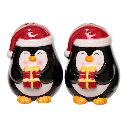 Penguin Ceramic Christmas Salt and Pepper Set Novelty Gift
