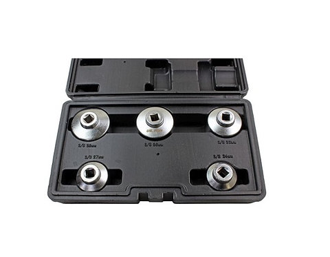 """US PRO 5 Pce 3/8"""" Cup Type Drive Oil Filter Wrench Set 