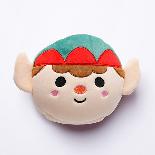 Christmas Elf Relaxeazzz Plush Round Travel Pillow & Eye Mask Set Novelty Gift