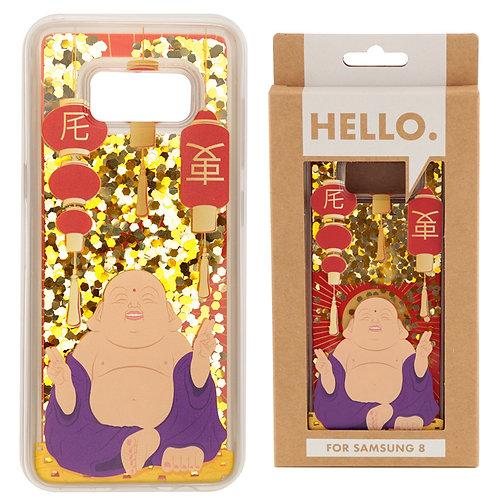Samsung 8 Phone Case - Lucky Buddha Design Novelty Gift