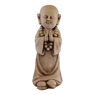 Stone Effect Garden Ornament, Monk Praying Shipping furniture UK