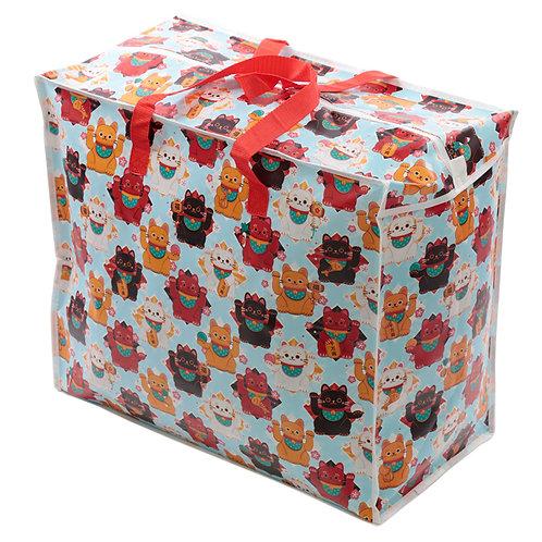 Fun Practical Laundry & Storage Bag - Lucky Cat Maneki Neko Novelty Gift