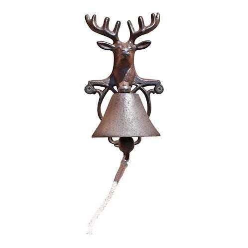 Rustic Cast Iron Wall Bell, Reindeer Bust Shipping furniture UK