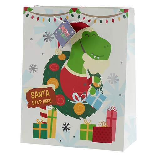 Dinosaur Large Christmas Gift Bag Novelty Gift