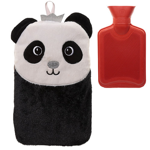Cute Plush Pandarama Crown 1 Litre Hot Water Bottle and Cover Novelty Gift