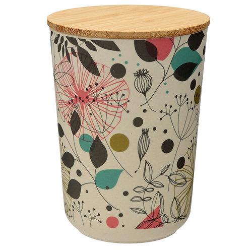 Medium Bamboo Composite Storage Jar Wisewood Botanical Novelty Gift