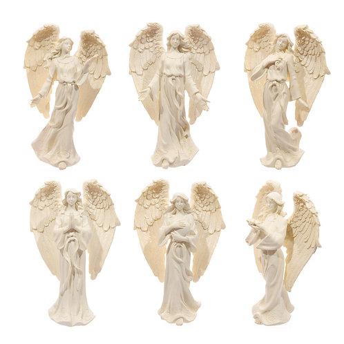 Decorative Cream Angel Standing 17cm Figurine Novelty Gift [Pack of 1]