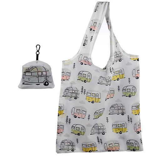 Handy Fold Up Wildwood Caravan Shopping Bag with Holder Novelty Gift
