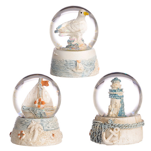 Collectable Nautical and Seaside Snow Globe Novelty Gift