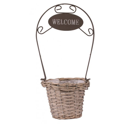 Round Grey-wash Welcome Basket 13cm | Florist Sundries Supplies and Events UK