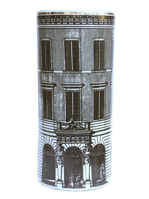 Ceramic Umbrella Stand, Monochrome Building Design Shipping furniture UK