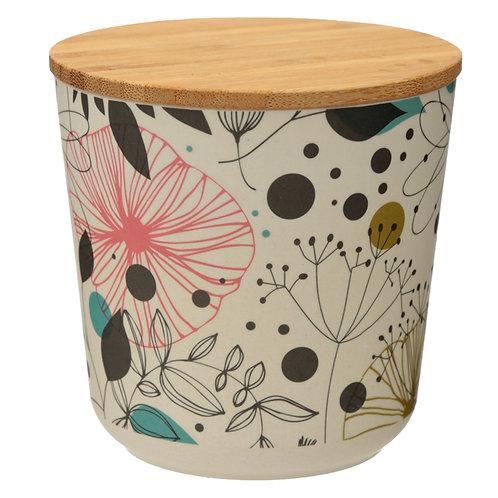 Small Bamboo Composite Storage Jar Wisewood Botanical Novelty Gift