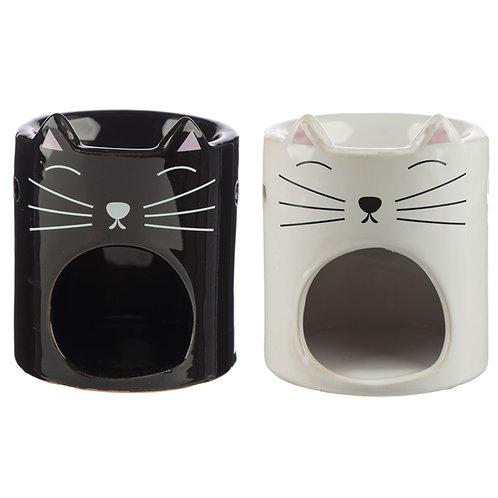 Ceramic Feline Fine Cat Oil Burner Novelty Gift