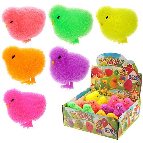 Fun Kids Light Up Squidgy Chick Puff Pet Novelty Gift