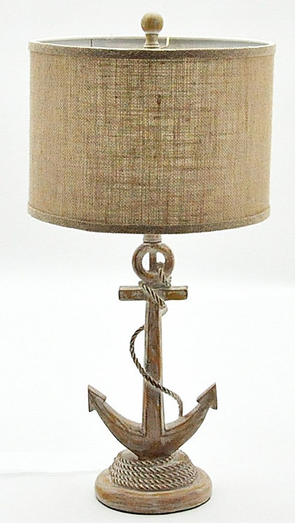 Weathered Anchor Table Lamp And Shade 65cm Shipping furniture UK