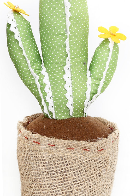 Light Green with Lace Cactus Doorstop 34cm Shipping furniture UK