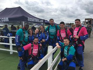 Press Release: 25 Pareto team members to complete skydive for C-A-L-M
