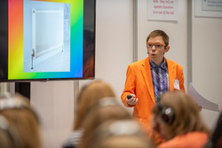 Presenting my Asperger's talk at the Autism Show