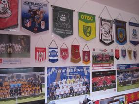 My bedroom, full of football memorabilia