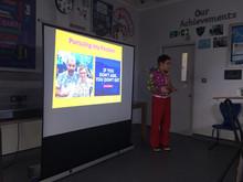 Presenting my Positivity Talk at Essex Schools