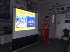 Presenting my Positivity Talk at Essex Schools