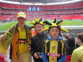 Me and my cousins watching Burton Albion at Wembley