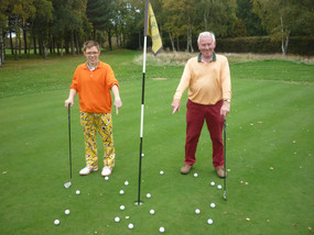 Me and my poppa playing golf