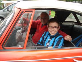 Me and my Grandad Gordon in his orange Triumph Herald