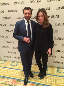 With president of DAMIANI